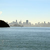 View of Alcatraz Island and downtown San Francisco behind Point Stuart on Angel Island.