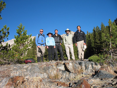 Our group for today. From left: Frank (yours truly), Kathy, Alan, David, Bruce.