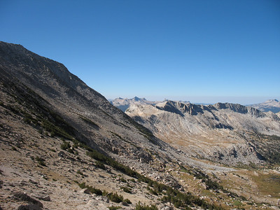 Looking south, on the western side of the Sierra Crest.