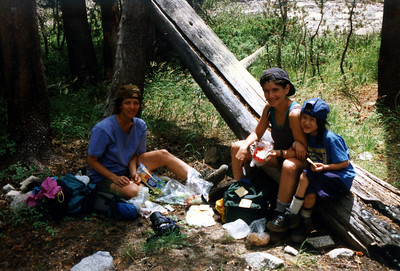 Two women and an 8-year old girl we met hiking on the John Muir Trail. They were from New York and were fast hikers that really seemed to have their act together.
