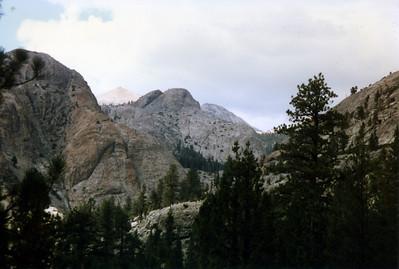 Peaks above San Joaquin River between Piute Creek and Evolution Creek.