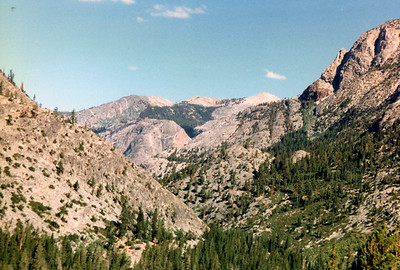 The view gets better the higher you climb! Mount Hooper and Mount Senger are in view, to the north.