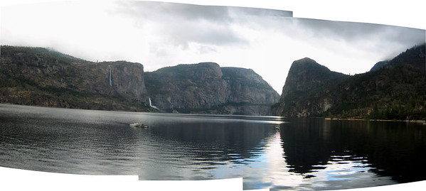 Hetch Hetchy panorama, from the dam