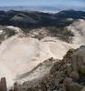 Western panorama down the ridge from Cirque Peak