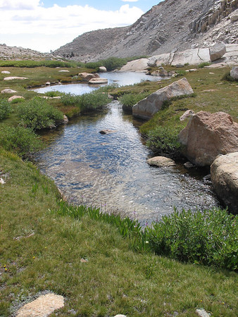 Creek flowing from Cottonwood Lakes #4 and #5.