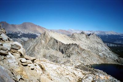 Red Kaweah, Mount Kaweah from Sawtooth Pass.