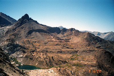 Mineral Peak, Lower Monarch Lake from the Sawtooth Pass Trail.