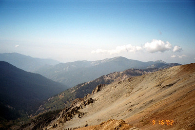 View west toward Central Valley from Sawtooth Pass.