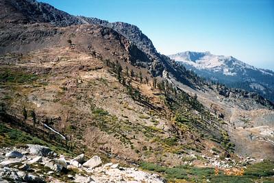 View across Monarch Creek Canyon.