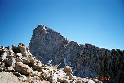 Sawtooth Peak from Sawtooth Pass.