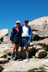 Friendly couple who took our photo at Sawtooth Pass.