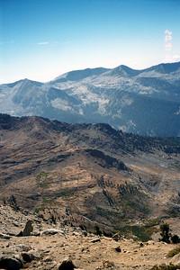 View down to Monarch Lake Trail.