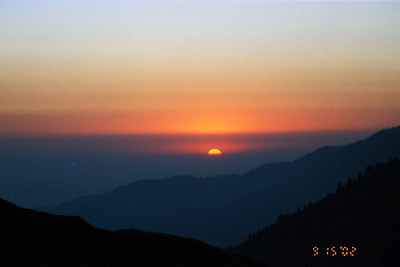 Sunset from Monarch Creek Canyon.