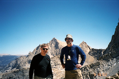 Frank and Ron at Sawtooth Pass. Needham Mountain in background.