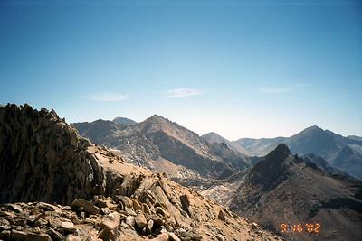 View south, ridge to Sawtooth Peak coming into view.