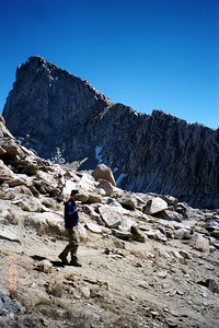 Ron checking out the view from Sawtooth Pass.