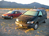 Frosty cars -- Scott's Ford, my Toyota. The Granite Mountains are in the background.