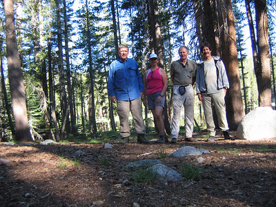 Our group at Hobler Lake -- From left: Tiocampo, Trailbunny, Bill, Spencer