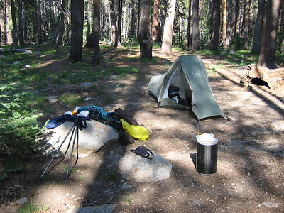 Tiocampo's tent at Hobler Lake