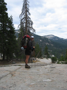 Crossing a granite outcropping