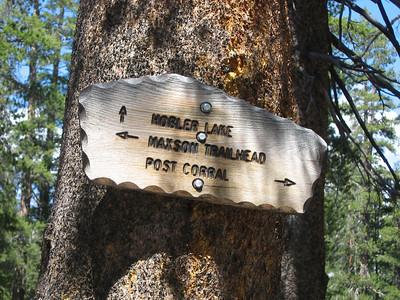Hobler Lake Trail sign