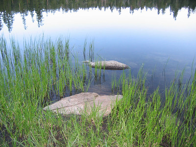 Hobler Lake -- This was a scenic lake, with warm, shallow water. I was glad to have a water filter.