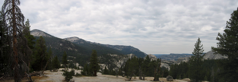 Opening vistas -- We gained elevation in the NF Kings canyon, and enjoyed looking back at where we'd passed.