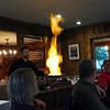Bananas Foster pyrotechnics!