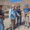 Talking to fellow hiker