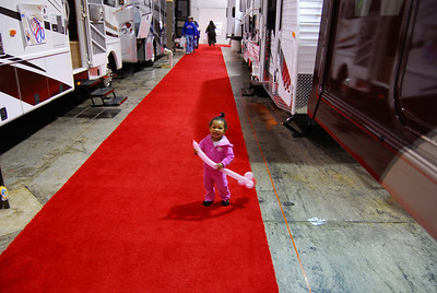 It was so nice for them to roll out the red carpet just for me.
