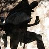 Shadow Self-Portrait Mid-Stride