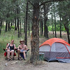 Our camp at Loftus Hotsprings