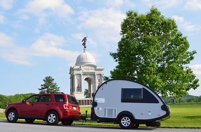In front of the Pennsylvania Memorial.
