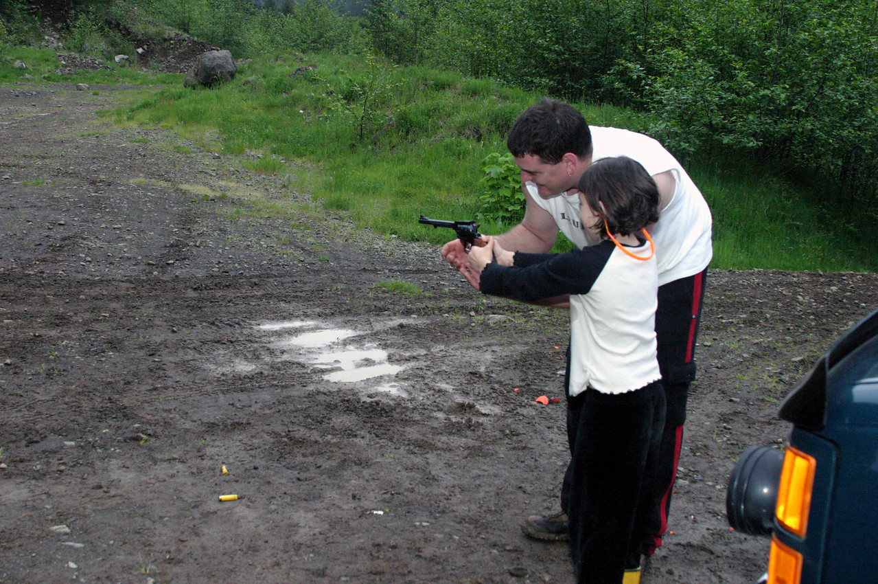 "<font size=""+1"">Rex spends some time with Melissa and his really nice little 22 cal single action... </font>"