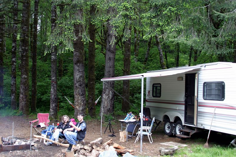 """<font size=""""+1"""">No pictorial is complete without a shot of the camp layout.. </font>"""