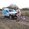 Third puncture of the day at Shaba!