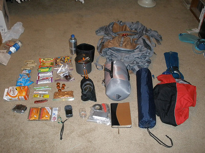 Most of the stuff in my pack.