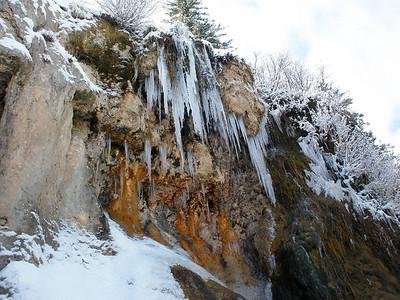 Frozen falls.