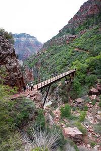 Bridge along the North Kaibab Trail