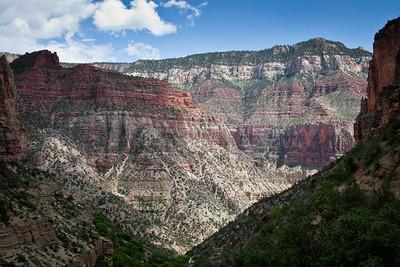 Canyon along the North Kaibab Trail