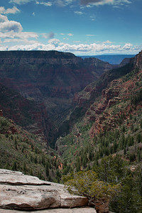 Looking from the North Rim
