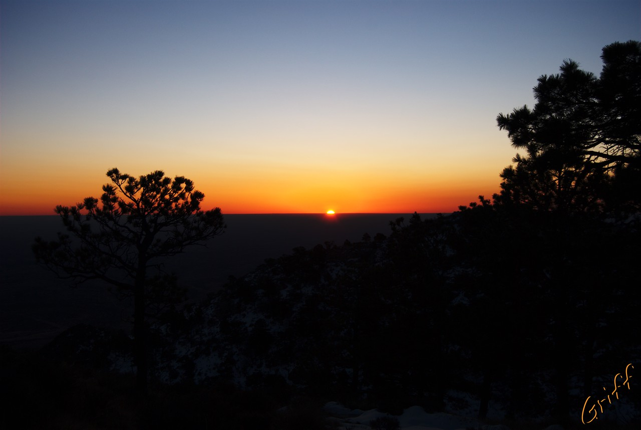 After a not-so-restful night sleep, I was greeted with a spectacular sunrise right outside my sleeping bag.