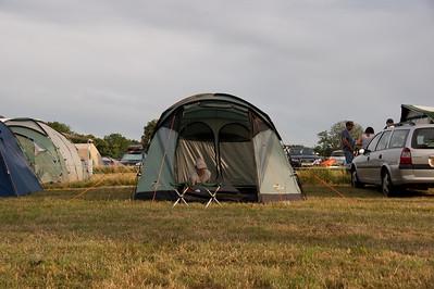 Silverstone Grand Prix campsite. July 2010.