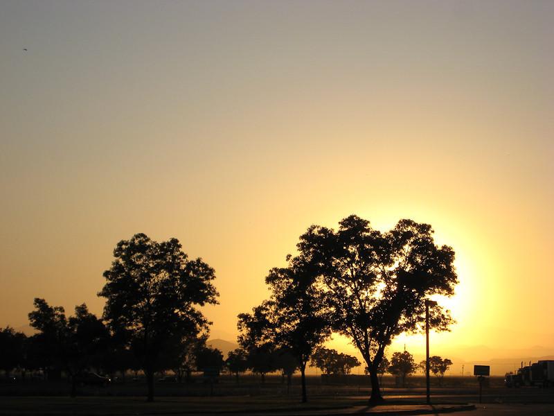 Rest Stop Sunset