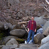 Off trail hike, rock hopping up the creek.