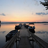 ...5:30AM. 8.16.09...view of Damariscotta Pond from the ramp of the boat dock at Lake Pemaquid Campground......