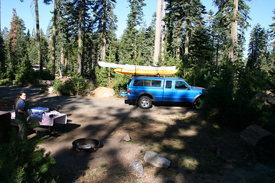 Sunday mornging at our campsite.
