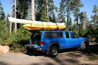 My truck with the kayaks on it.