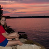 Crystal sitting by the sunset
