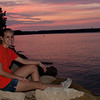 Meagan sitting by the sunset